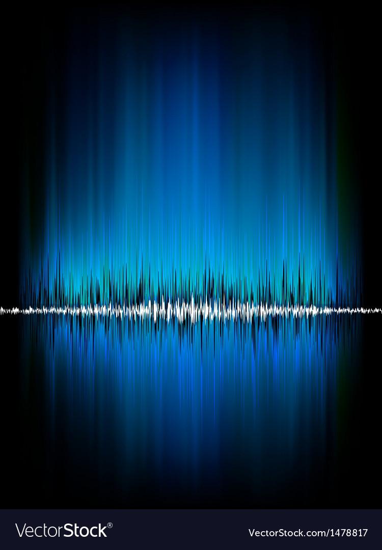 Sound waves oscillating on black eps 8 vector | Price: 1 Credit (USD $1)