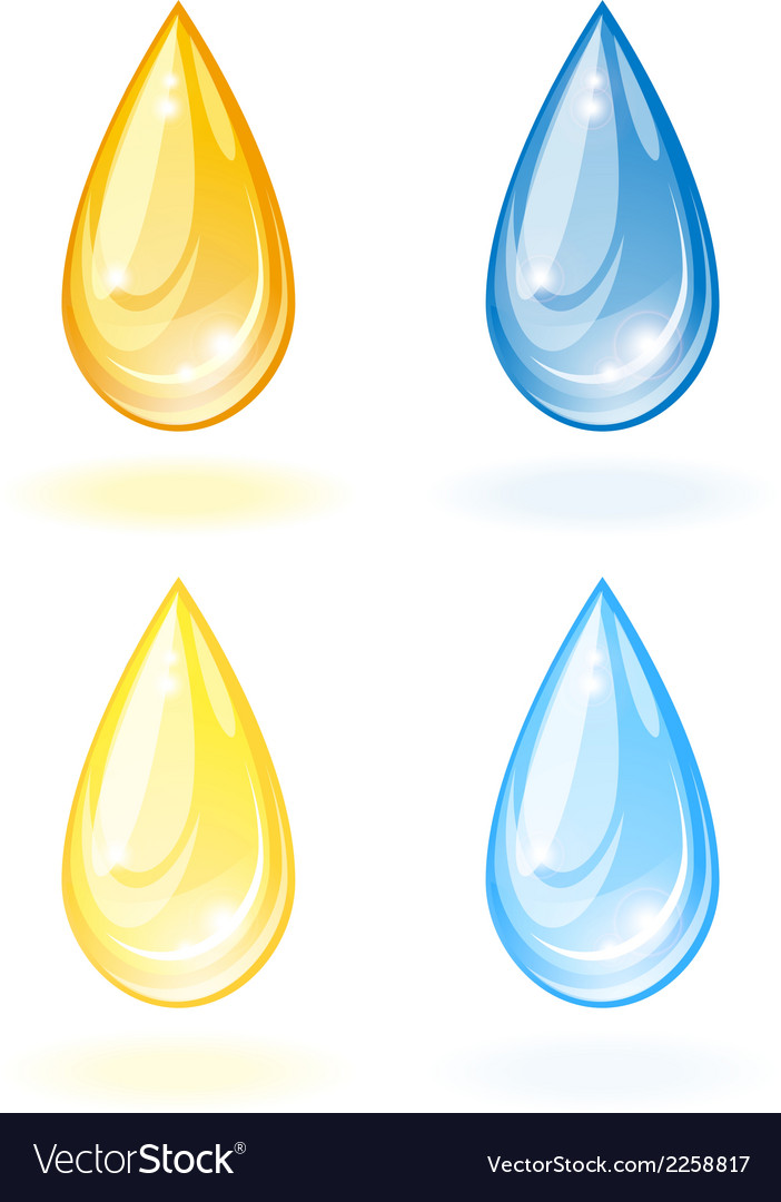 Stylized drop of oil and water vector | Price: 1 Credit (USD $1)