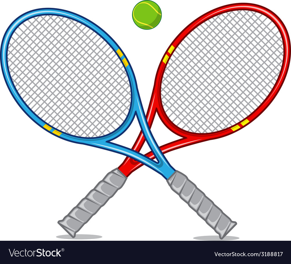 Tennis racket isolated on white vector | Price: 1 Credit (USD $1)