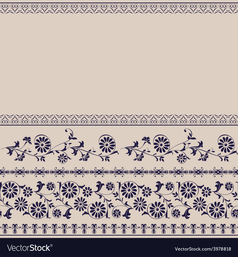 Background border floral rustic vector | Price: 1 Credit (USD $1)