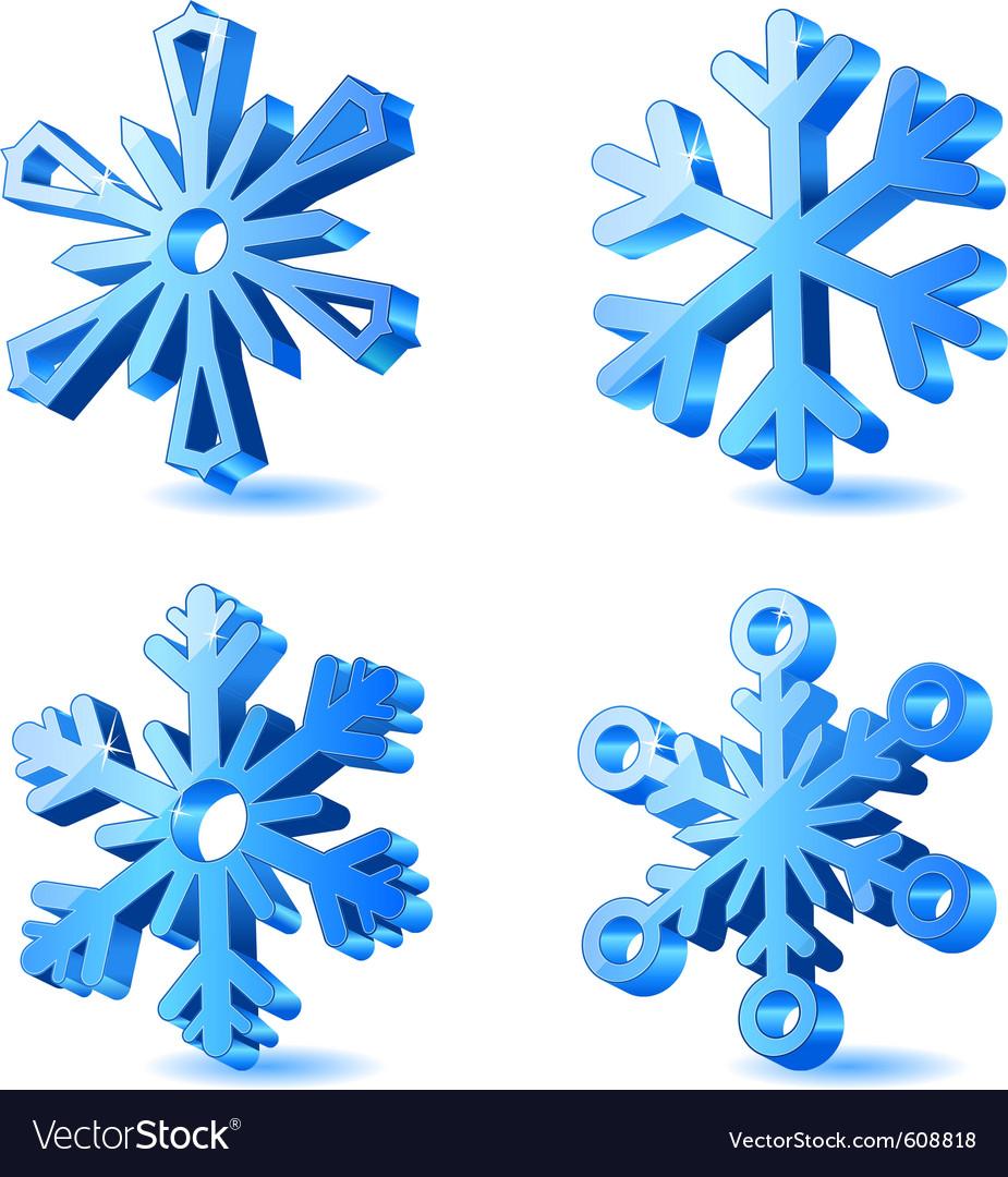 Christmas snowflake icons vector | Price: 1 Credit (USD $1)