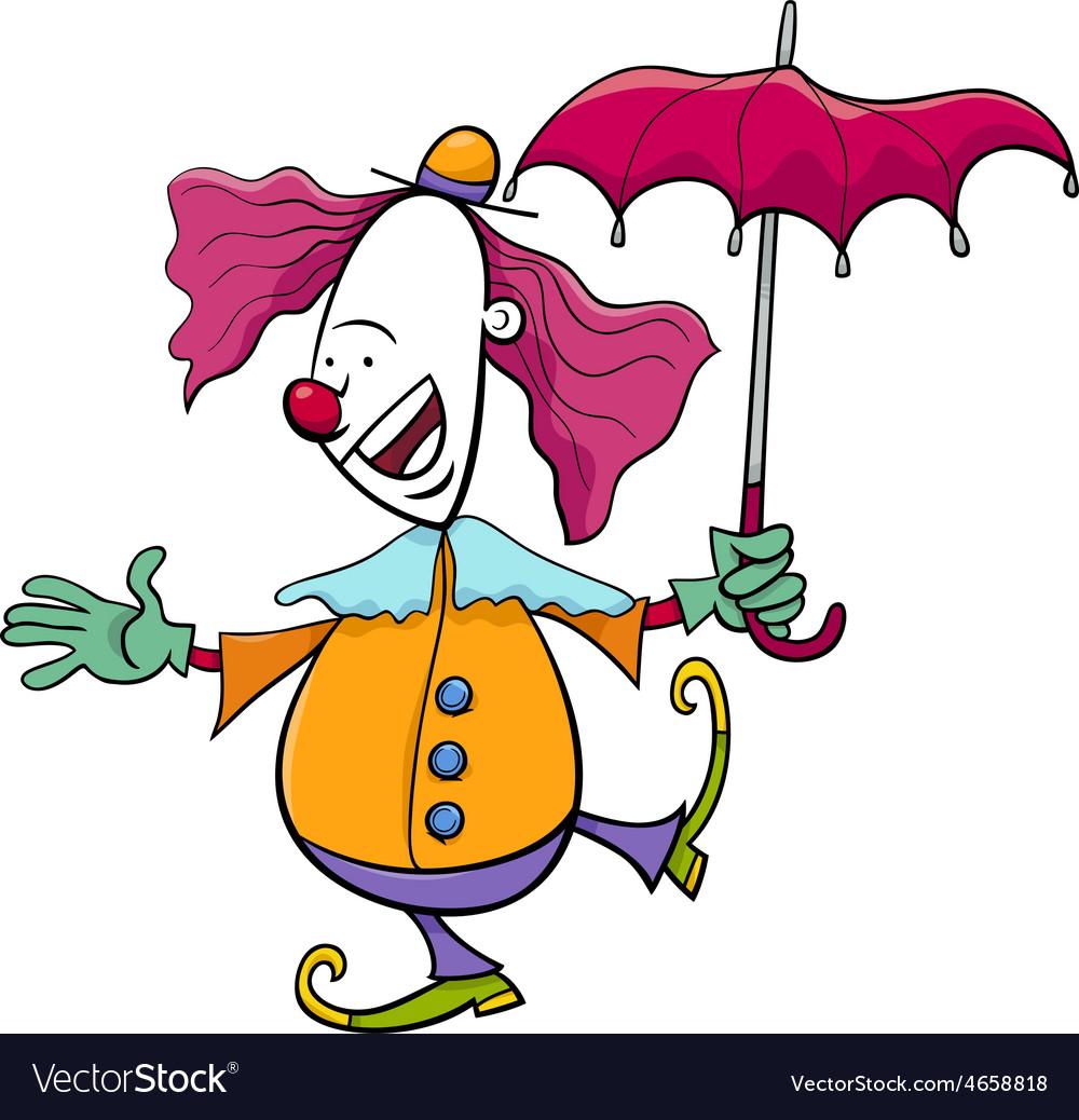 Circus clown cartoon vector | Price: 1 Credit (USD $1)