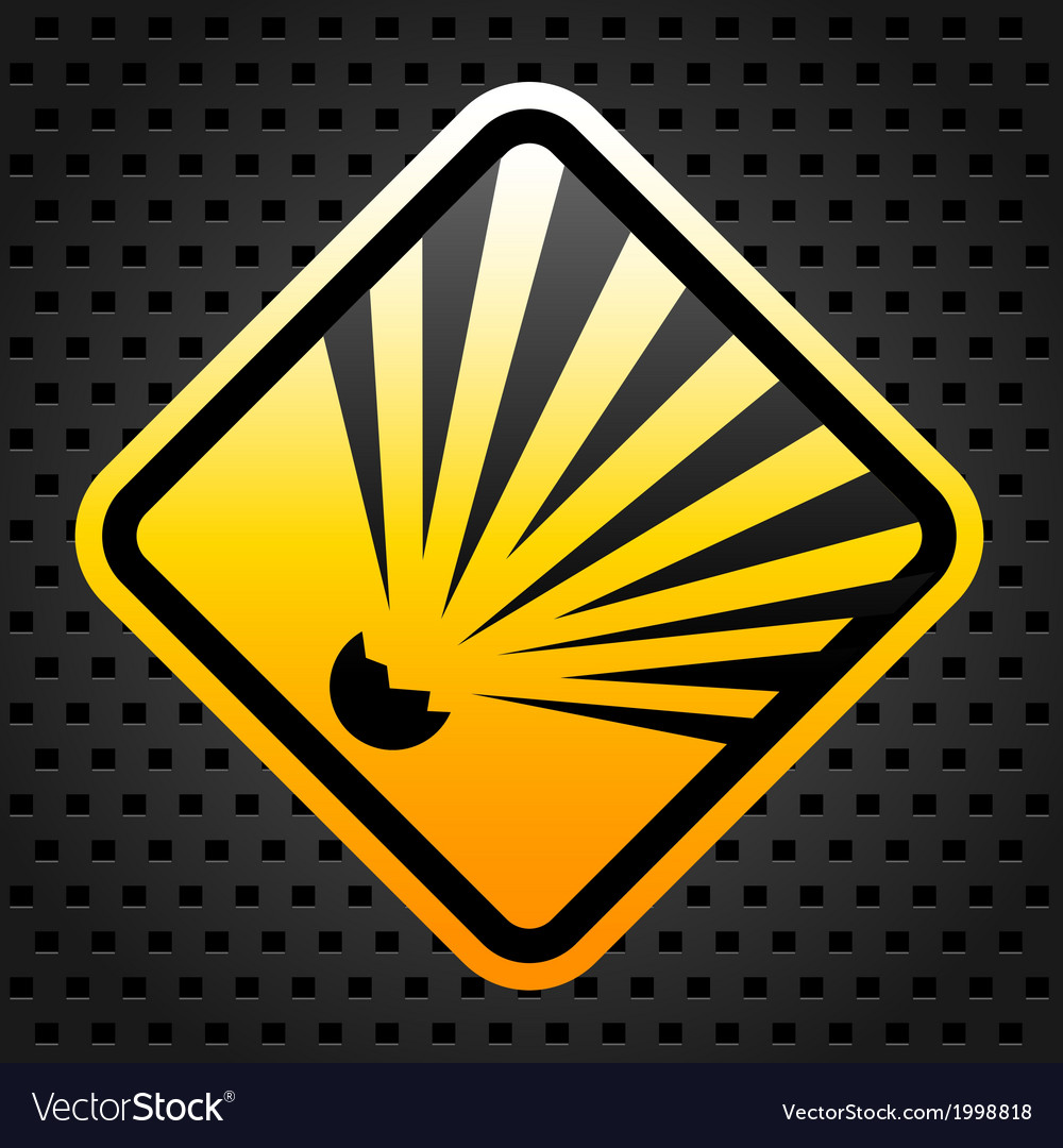Explosion warning sign vector | Price: 1 Credit (USD $1)