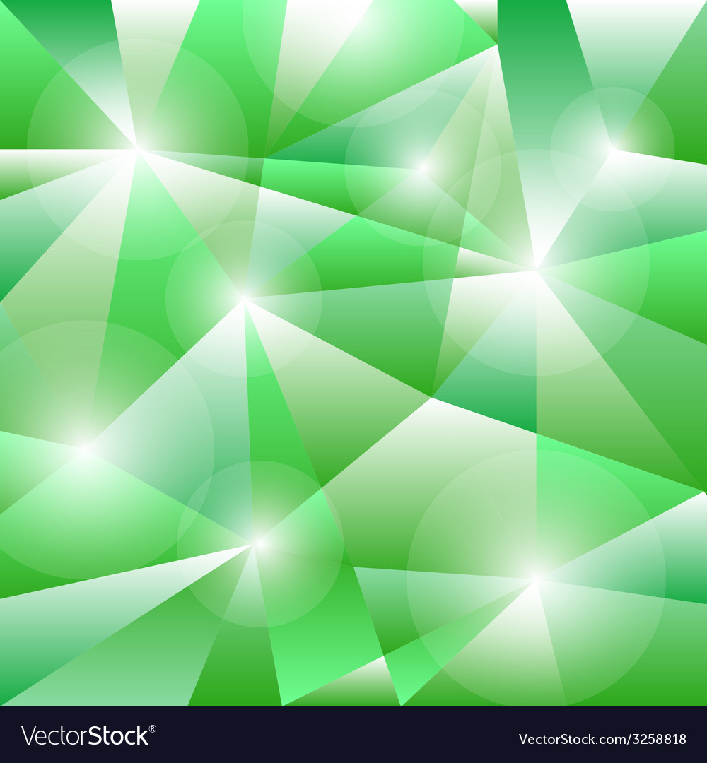 Geometric pattern with green triangles background vector | Price: 1 Credit (USD $1)