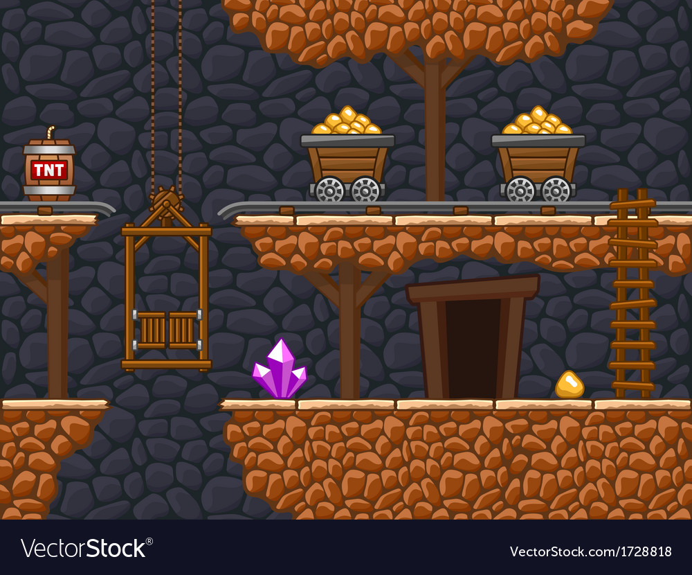 Gold mine 2 vector | Price: 1 Credit (USD $1)