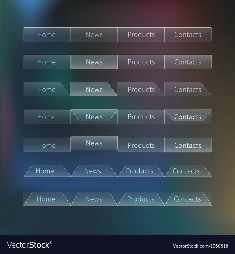 Really transparent web design menu templates vector | Price: 1 Credit (USD $1)