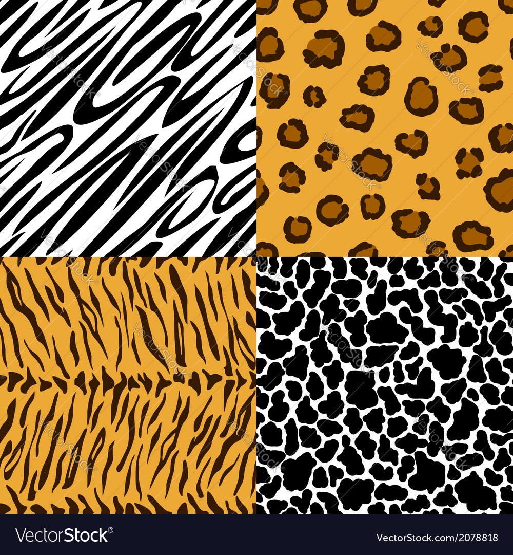 Seamless texture of animal skin vector | Price: 1 Credit (USD $1)