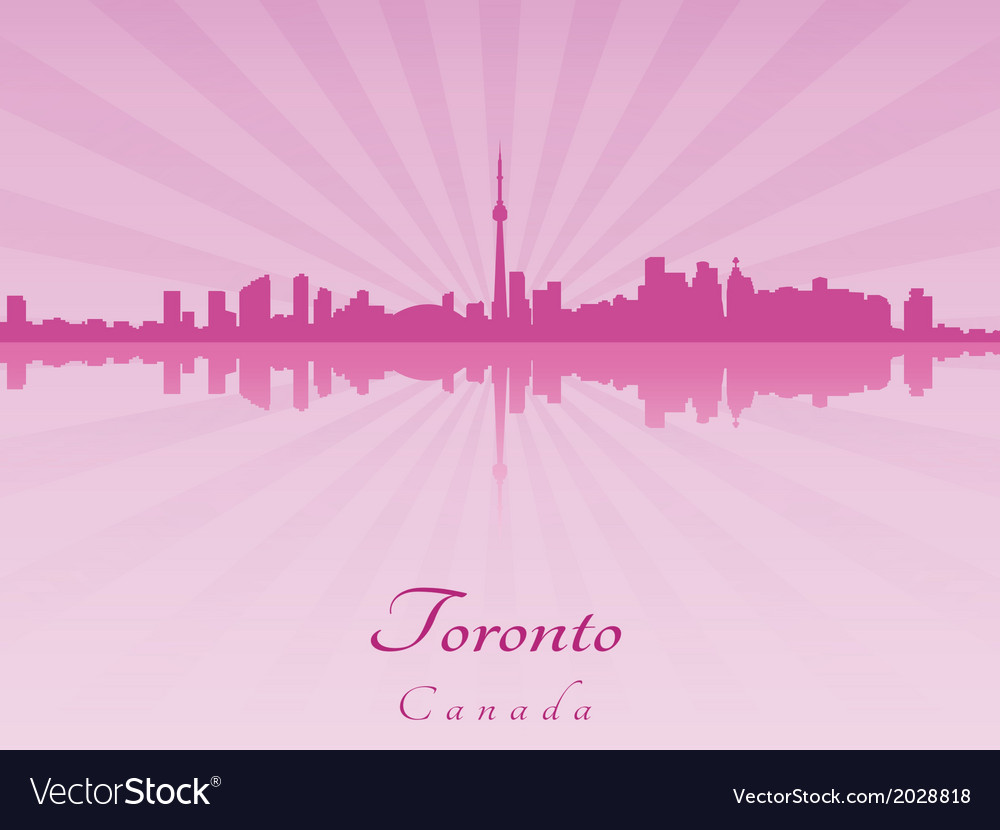 Toronto skyline in purple radiant orchid vector | Price: 1 Credit (USD $1)