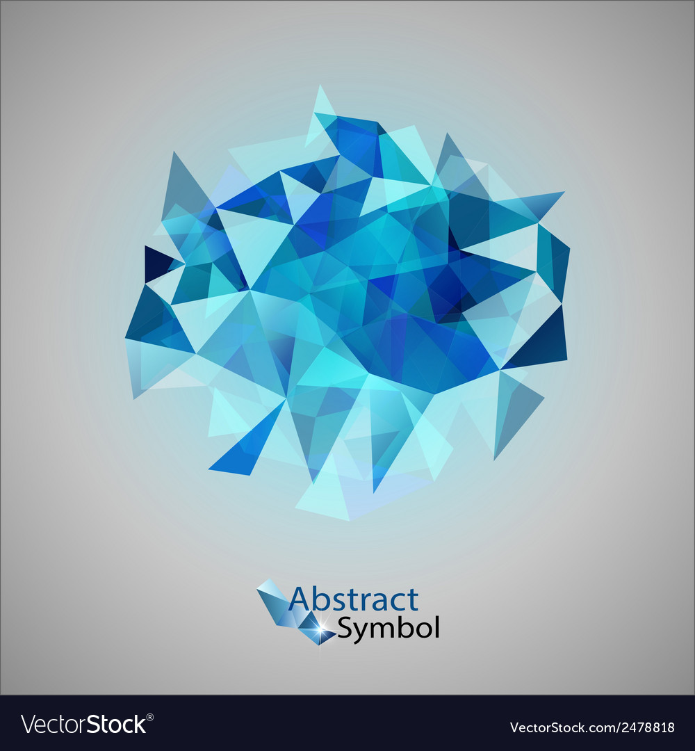 Triangles on gray blue vector | Price: 1 Credit (USD $1)