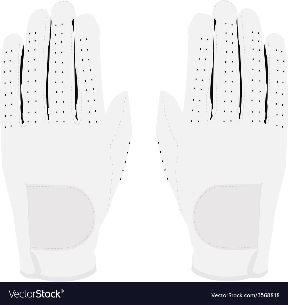 White gloves pair vector | Price: 1 Credit (USD $1)