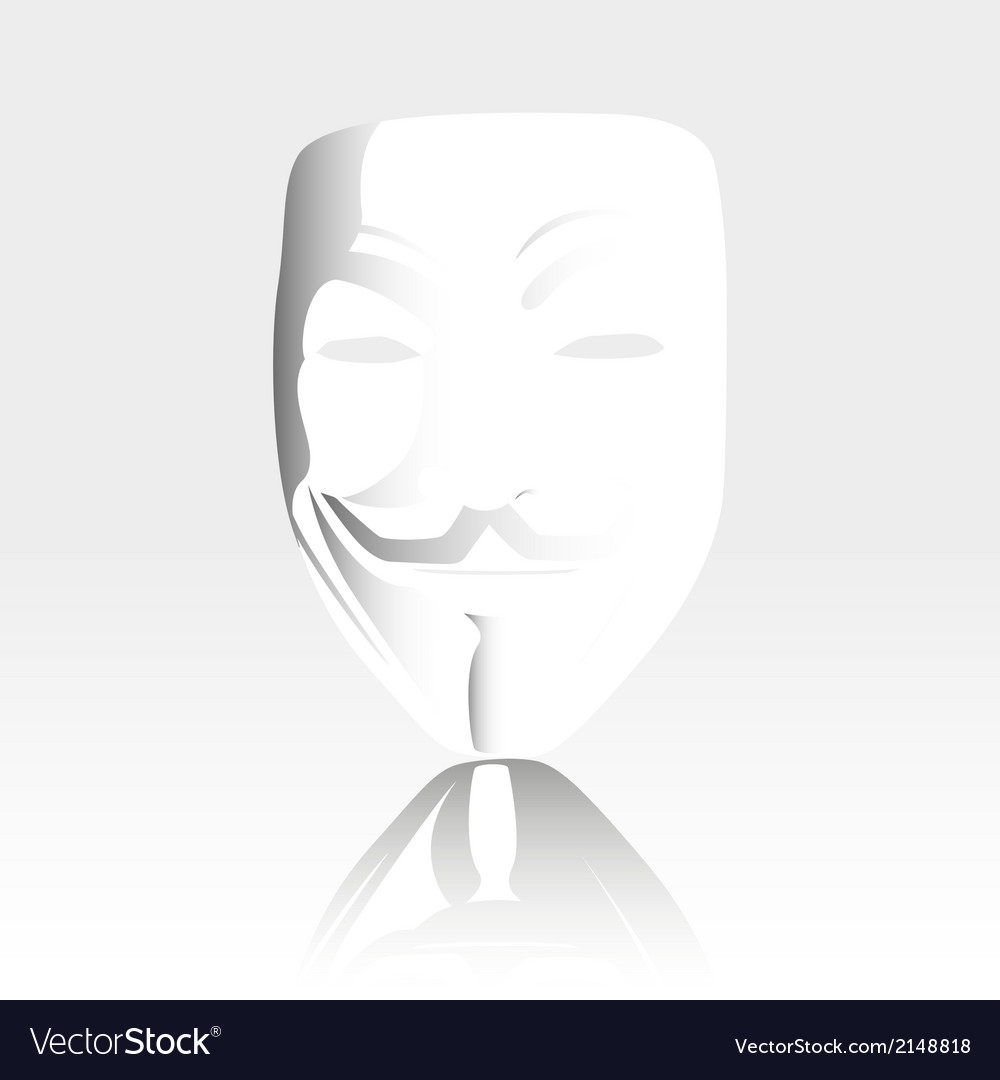 White mask anonymous vector | Price: 1 Credit (USD $1)