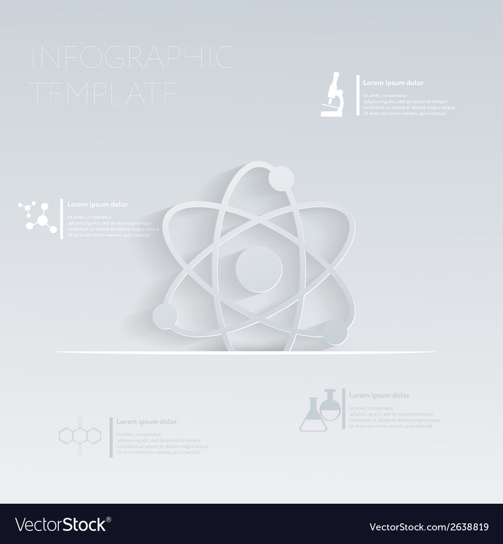 Atom molecule template graphic or web vector | Price: 1 Credit (USD $1)