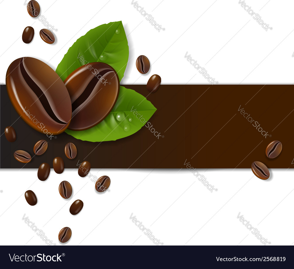 Background of coffee beans vector | Price: 1 Credit (USD $1)