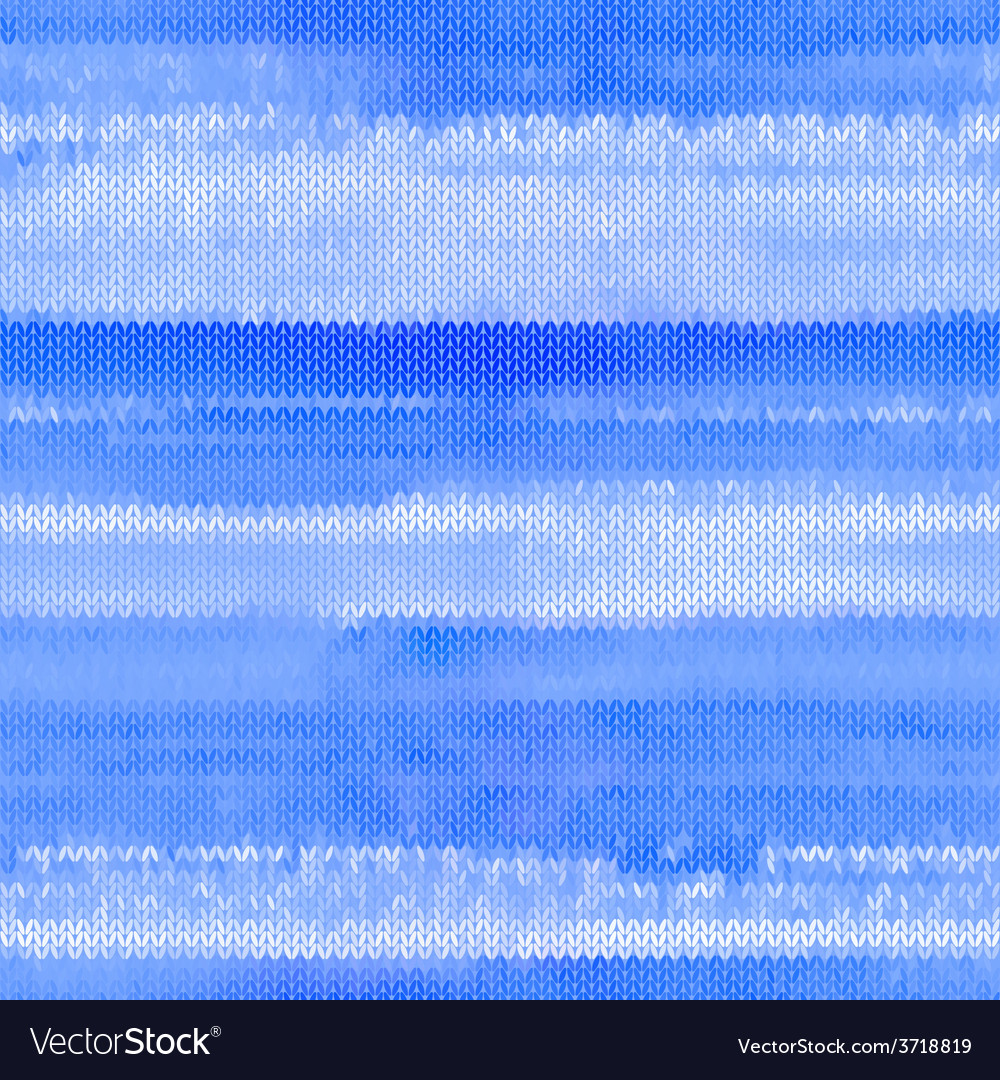 Beautiful blue seamless knitted pattern vector   Price: 1 Credit (USD $1)