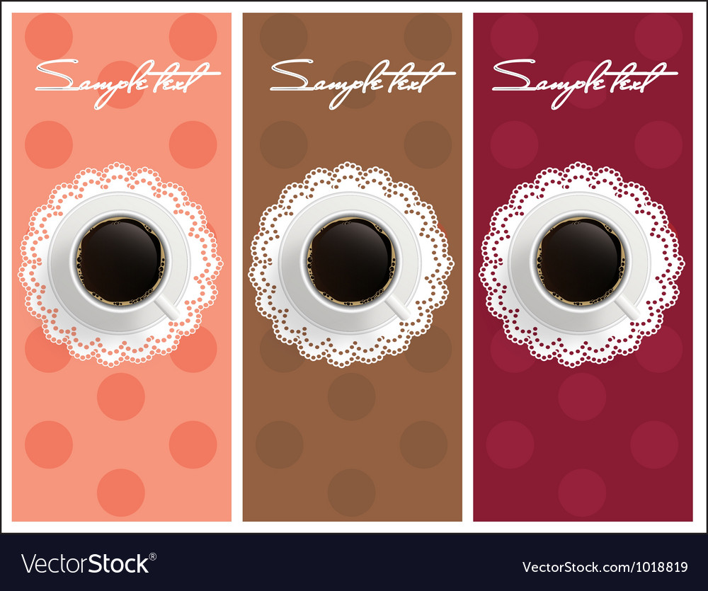 Beautiful card with sweet coffee dessert set vector | Price: 1 Credit (USD $1)
