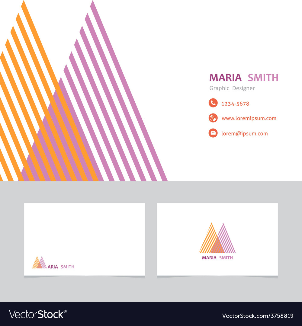 Business card template with a letter m vector   Price: 1 Credit (USD $1)