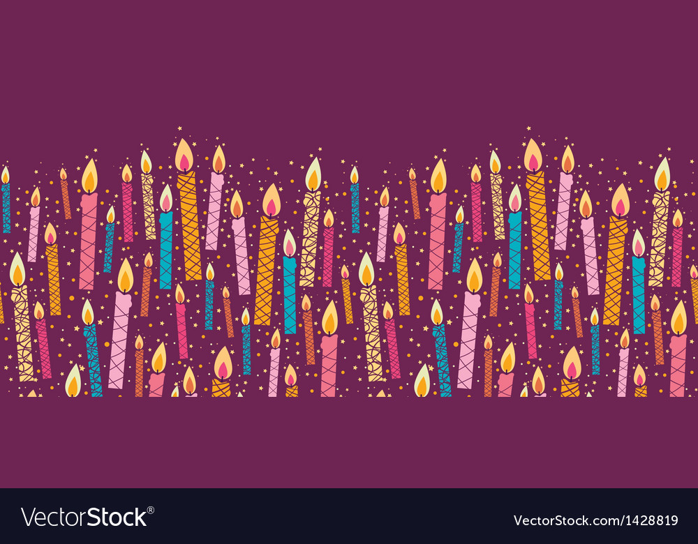 Colorful birthday candles horizontal seamless vector | Price: 1 Credit (USD $1)