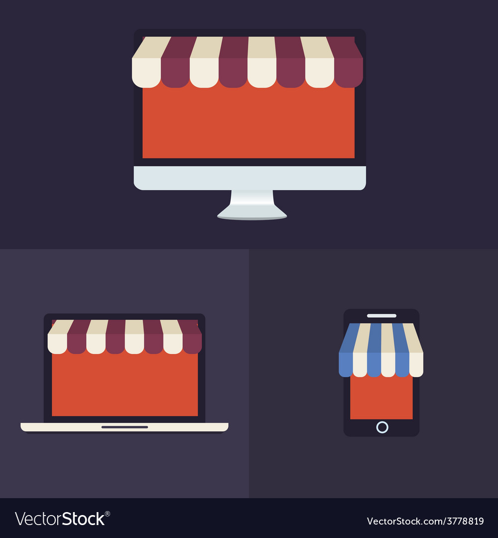 Computer laptop and smartphone vector   Price: 1 Credit (USD $1)