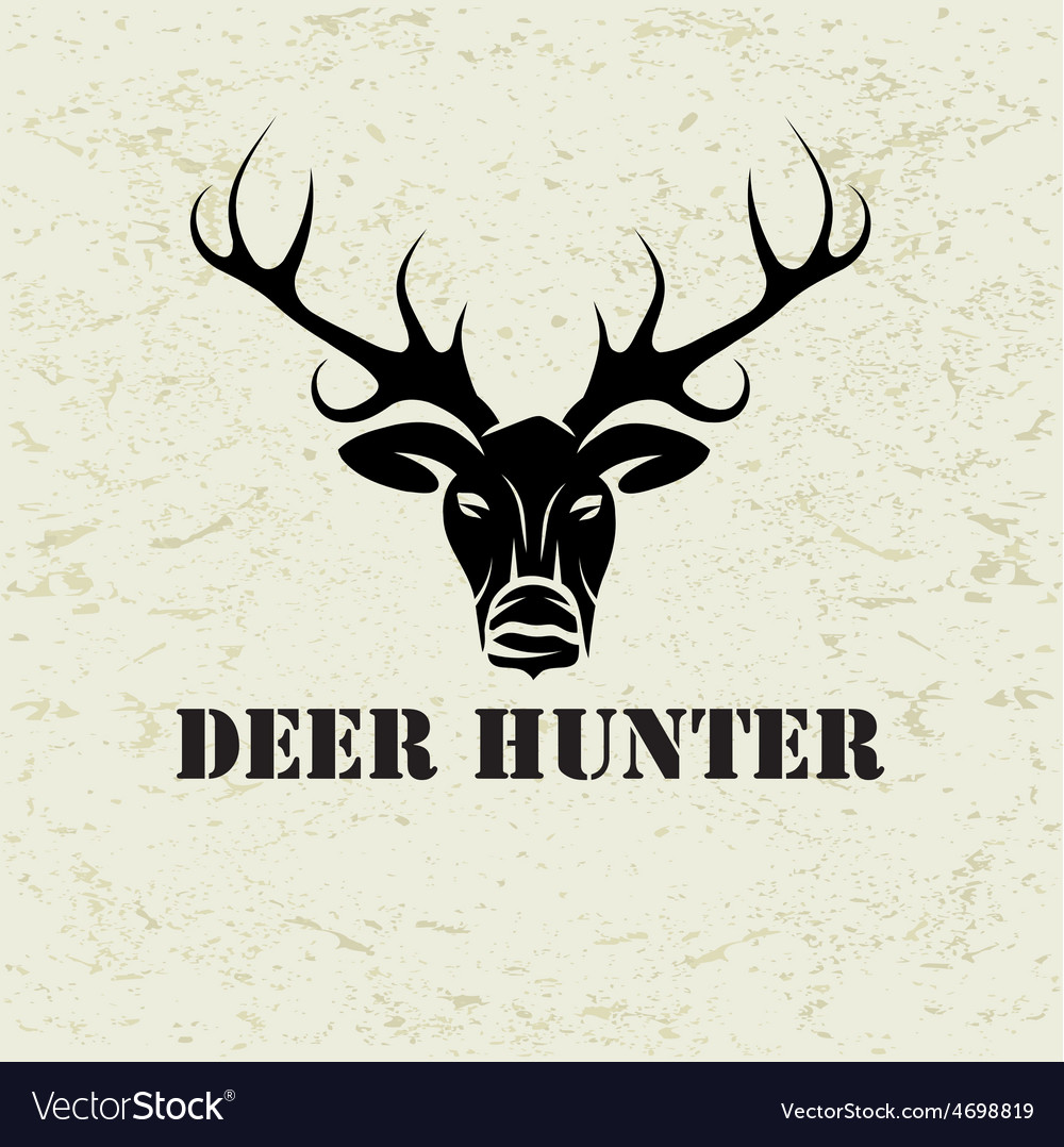 Deer head on grunge background vector | Price: 1 Credit (USD $1)
