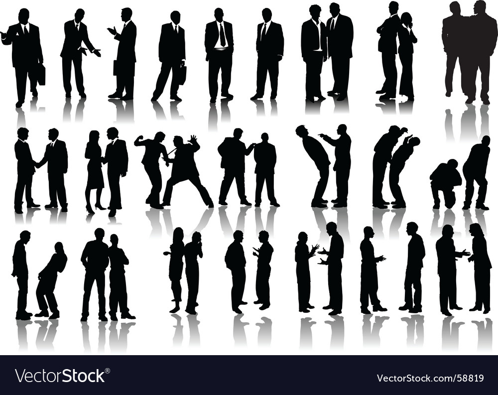 Forty businessmen vector | Price: 1 Credit (USD $1)