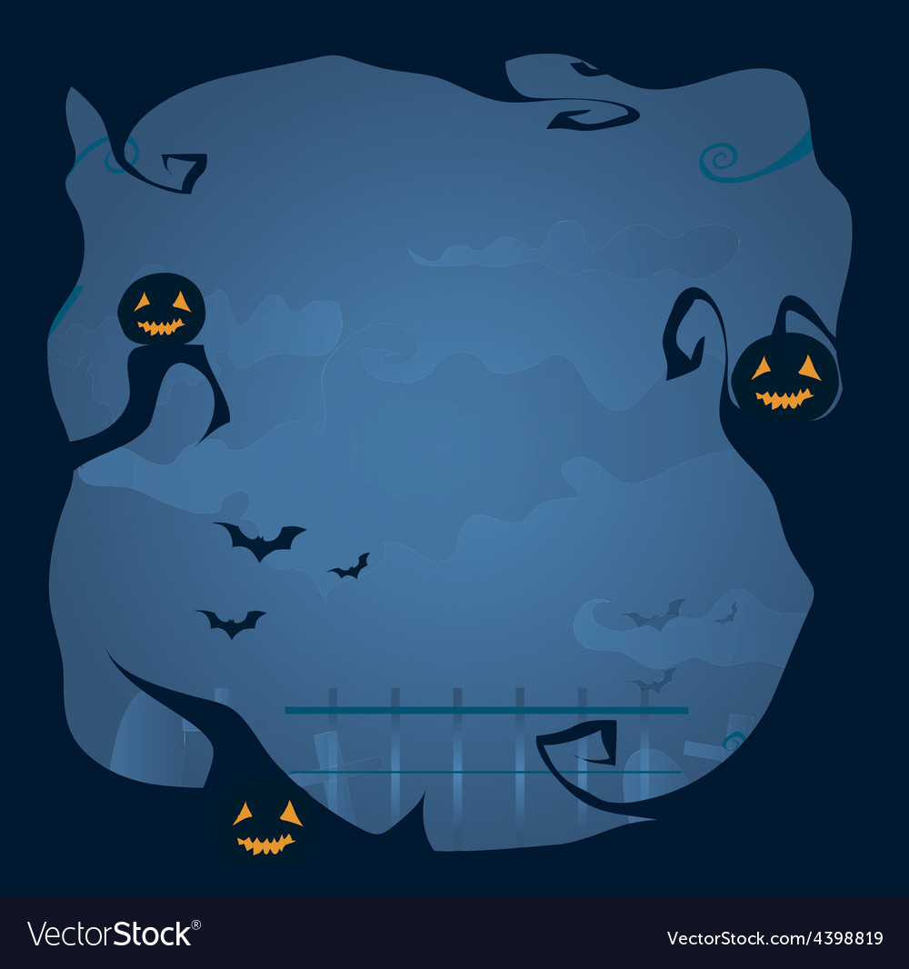 Halloween frame background vector | Price: 3 Credit (USD $3)
