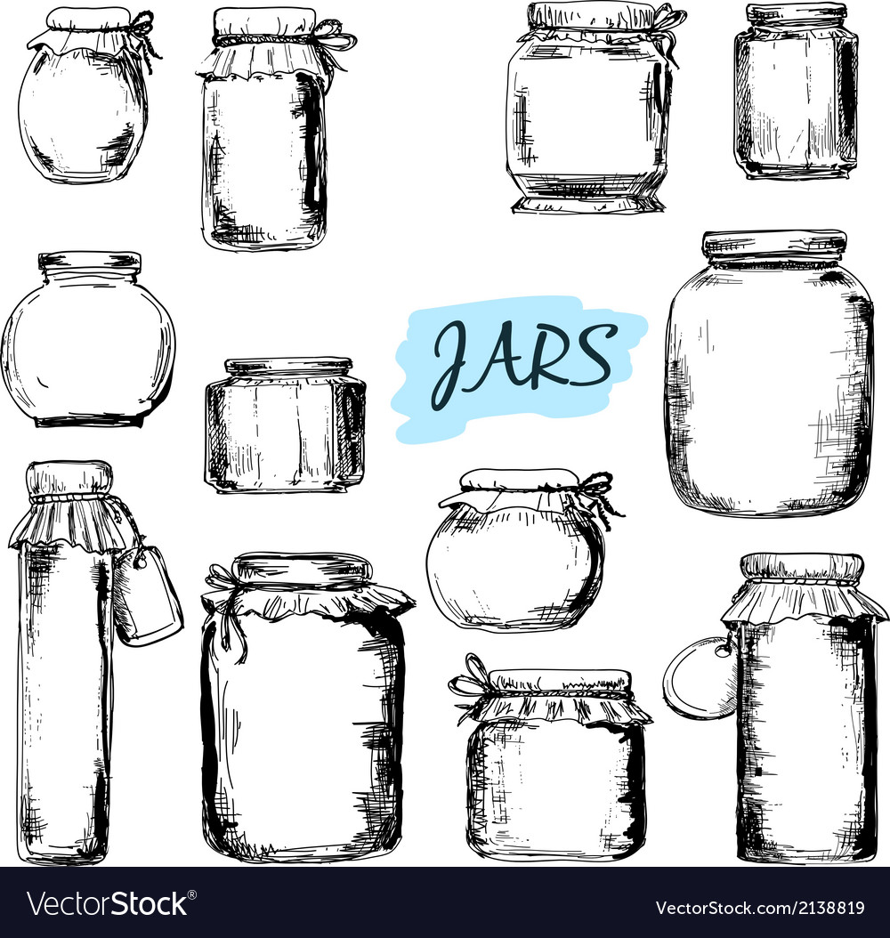 Jars set of vector | Price: 1 Credit (USD $1)