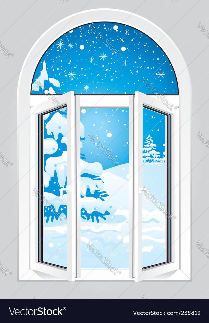Open window vector | Price: 1 Credit (USD $1)