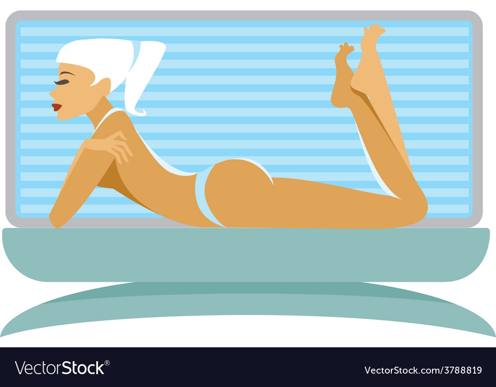 Tanning girl vector | Price: 1 Credit (USD $1)