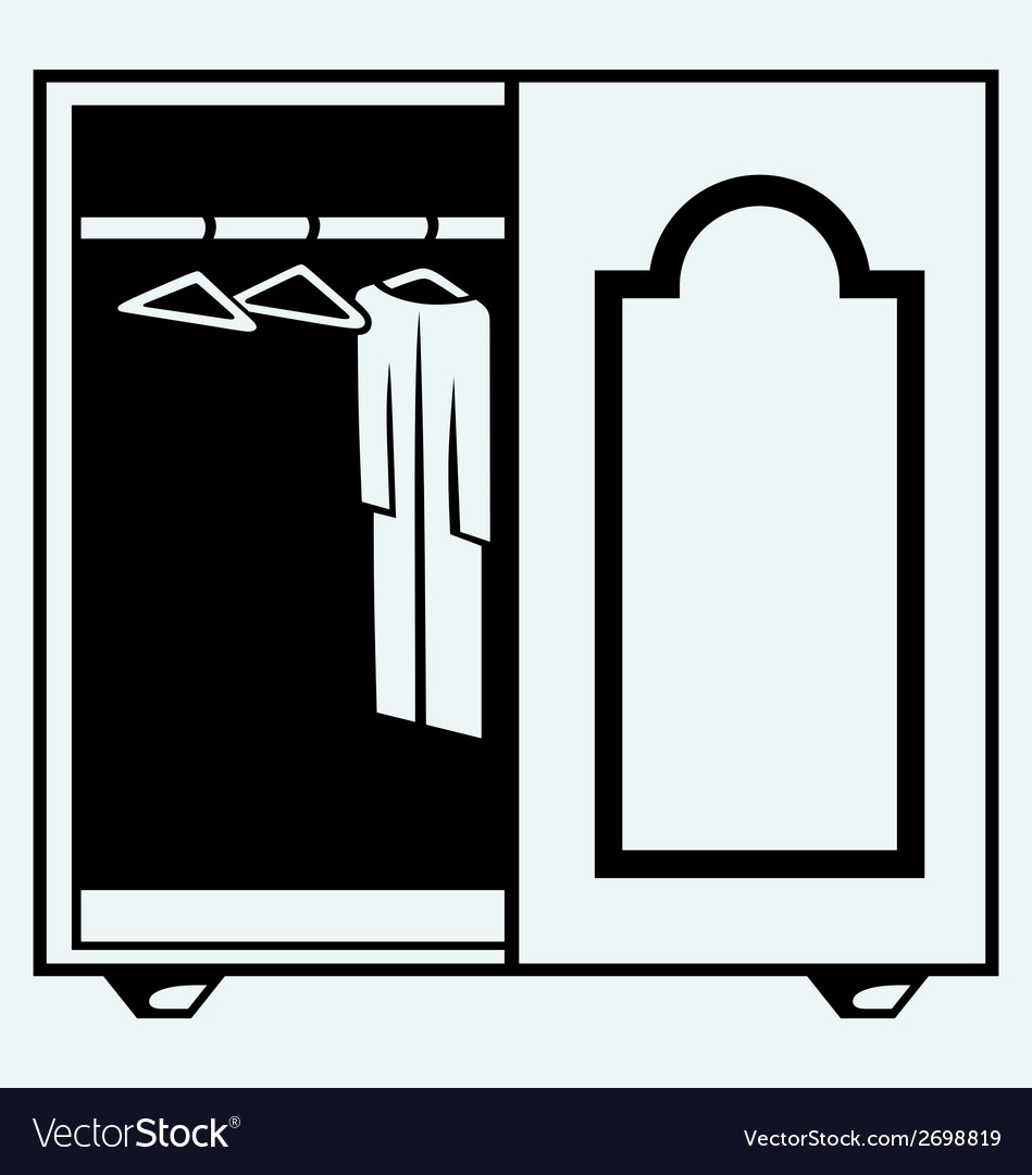 Wardrobe with clothes vector | Price: 1 Credit (USD $1)