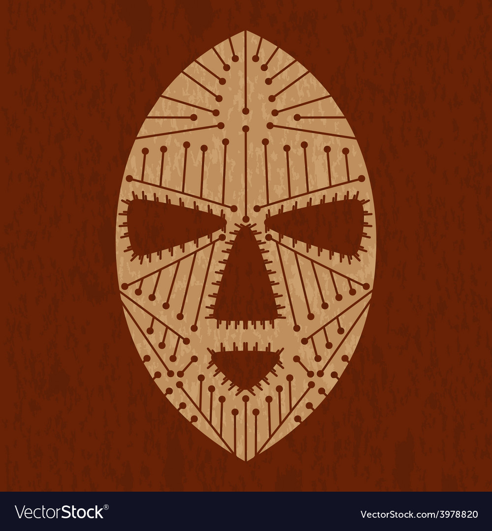 African maskvs vector | Price: 1 Credit (USD $1)