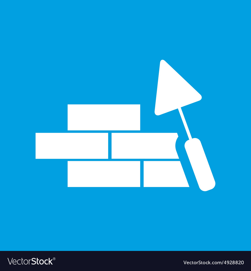 Building wall icon vector