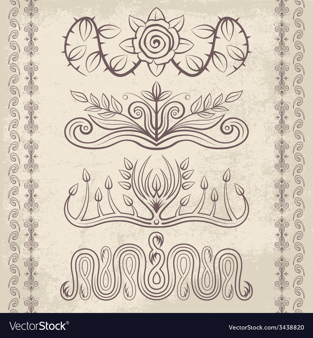 Decor elements4 vector | Price: 1 Credit (USD $1)