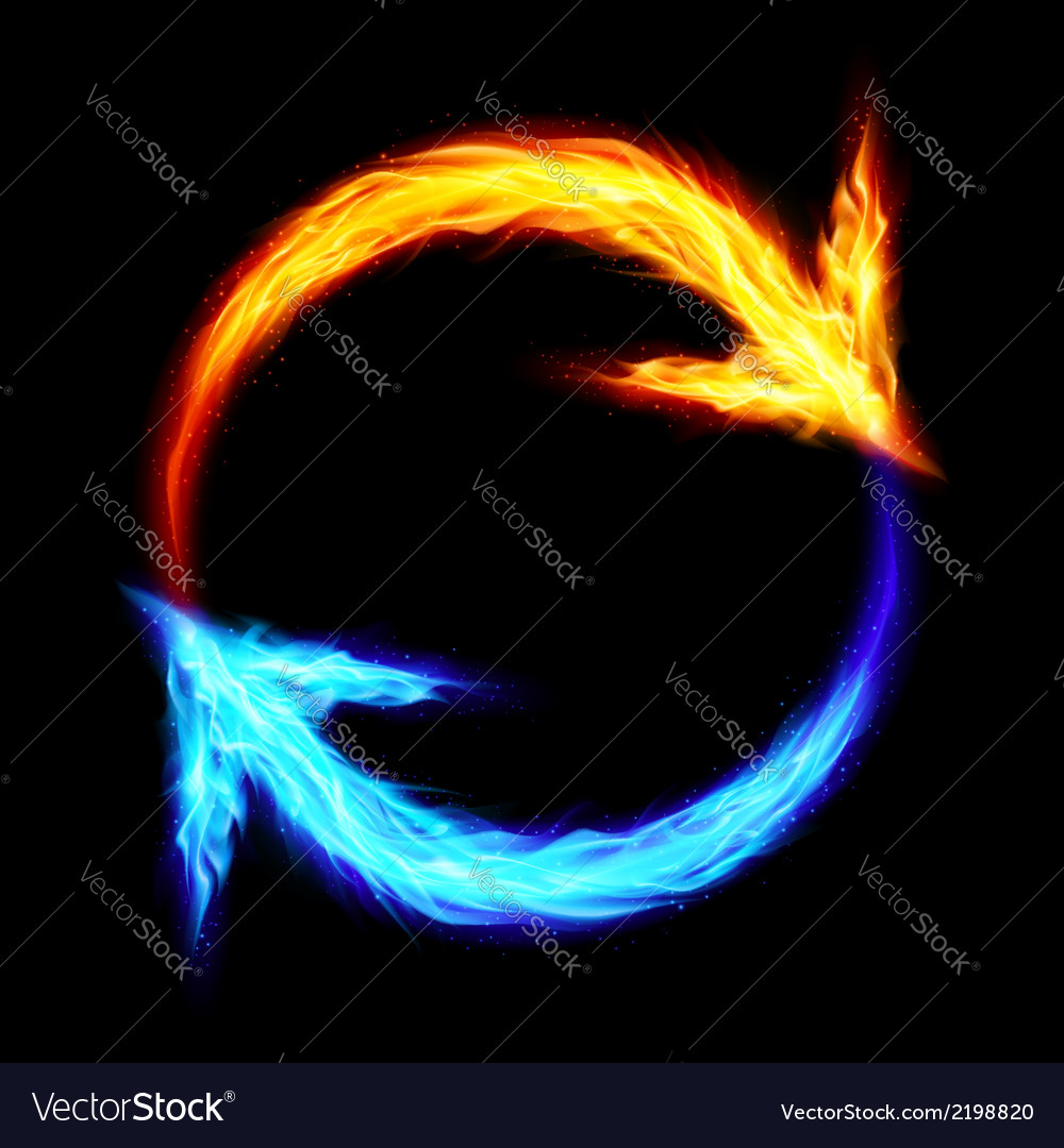 Fire circular arrows vector | Price: 1 Credit (USD $1)
