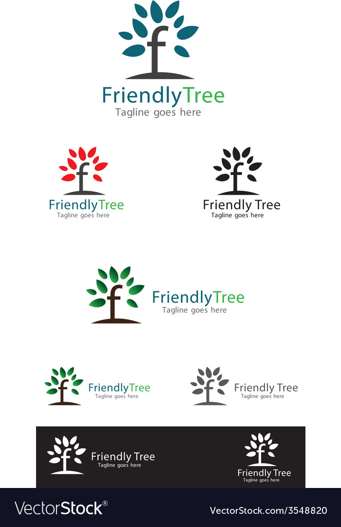 Friendly tree logo templates vector | Price: 1 Credit (USD $1)