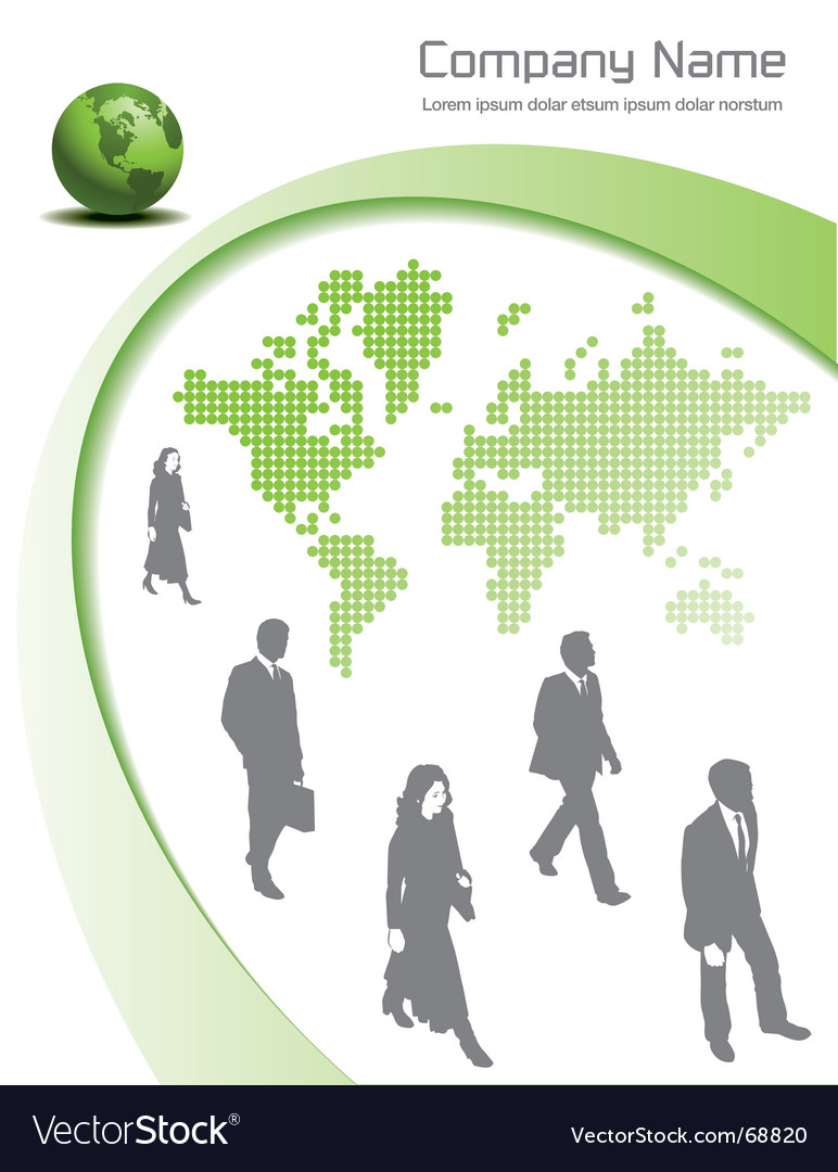 Green global vector | Price: 1 Credit (USD $1)