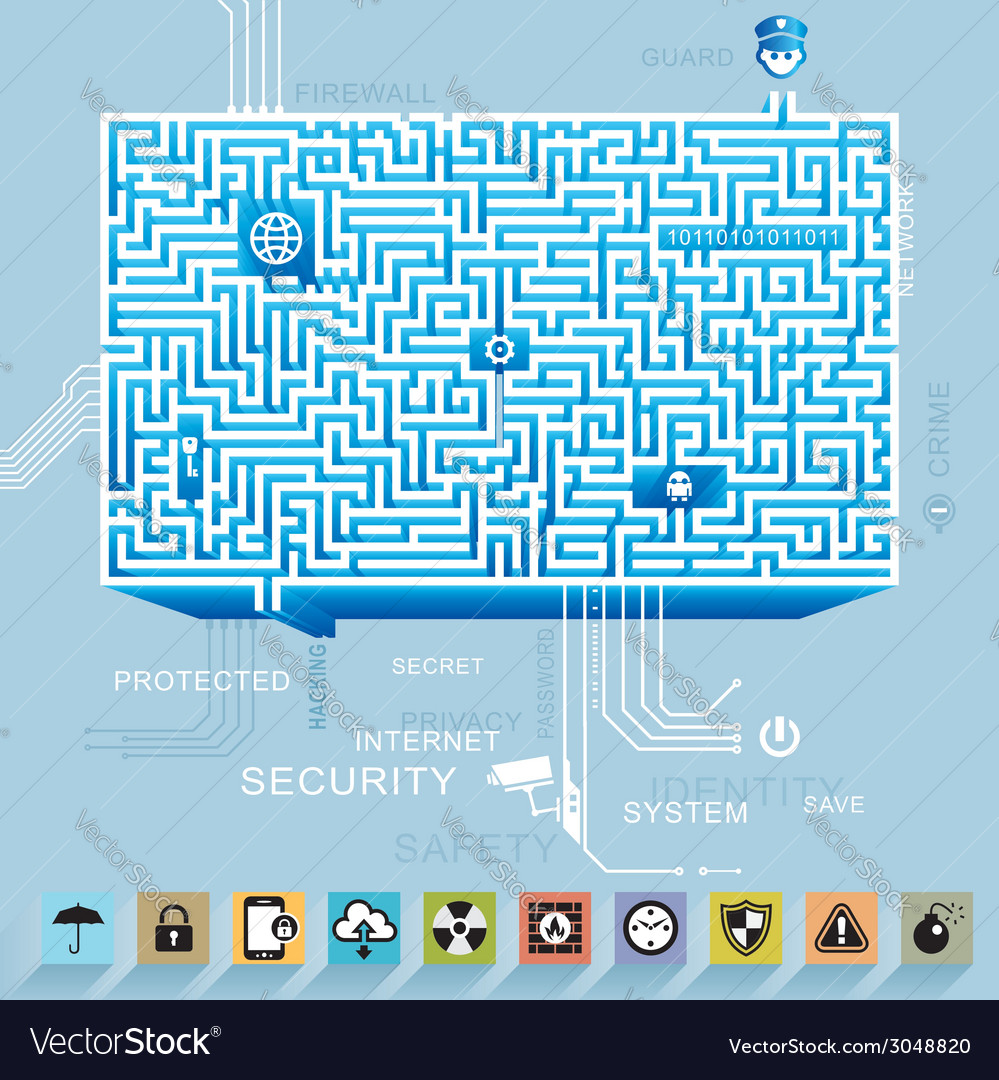 Internet security concept vector | Price: 1 Credit (USD $1)