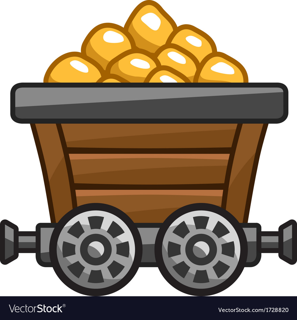 Mine cart vector | Price: 1 Credit (USD $1)