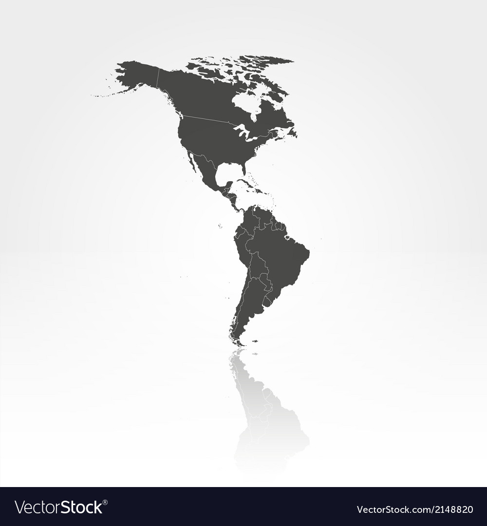 North and south america map background vector | Price: 1 Credit (USD $1)