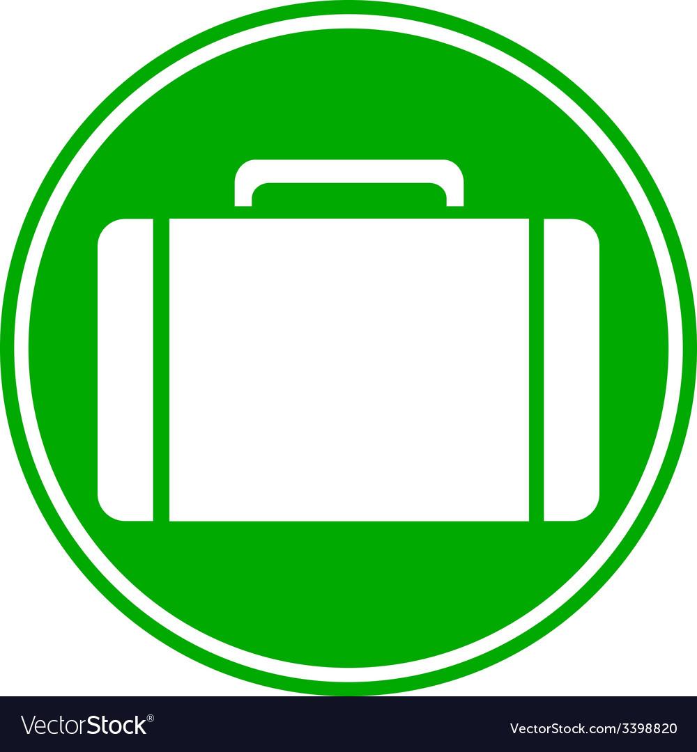 Portfolio symbol button vector   Price: 1 Credit (USD $1)