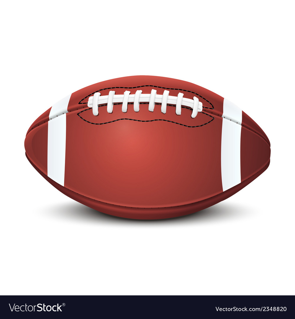 Realistic american football ball vector | Price: 1 Credit (USD $1)