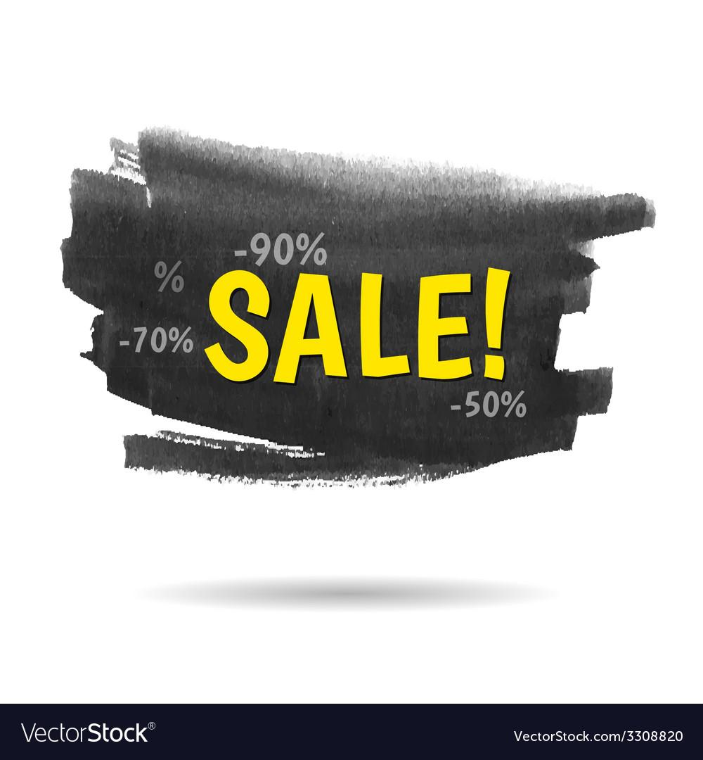 Watercolor sale banner vector | Price: 1 Credit (USD $1)