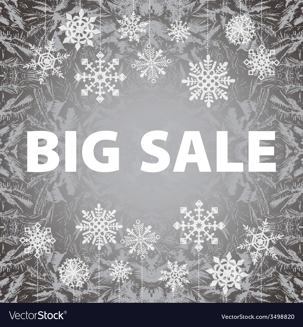 Winter sale background banner and snow christmas vector | Price: 1 Credit (USD $1)
