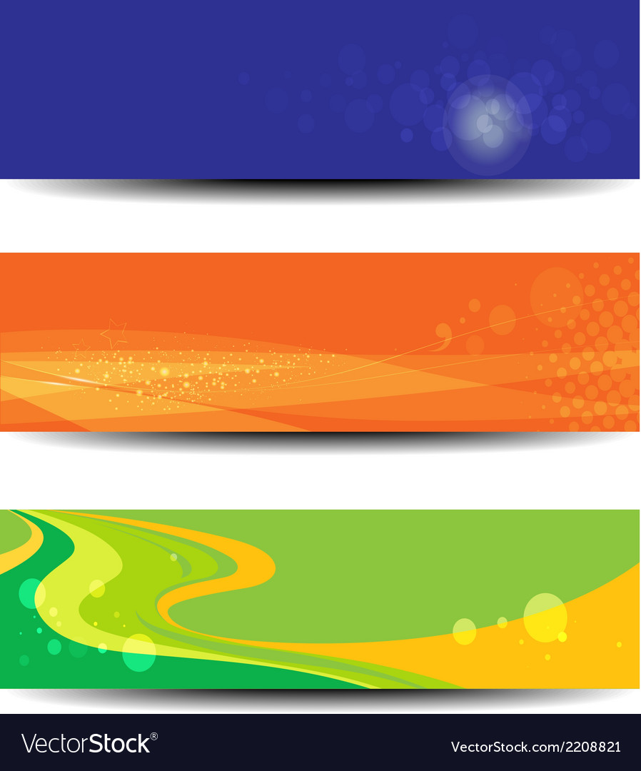 Banners wave colorful vector | Price: 1 Credit (USD $1)