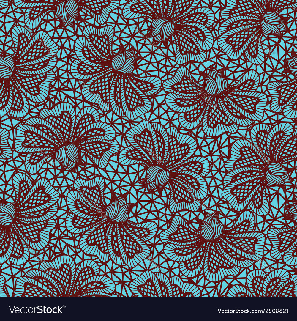 Brown seamless flower lace pattern vector   Price: 1 Credit (USD $1)