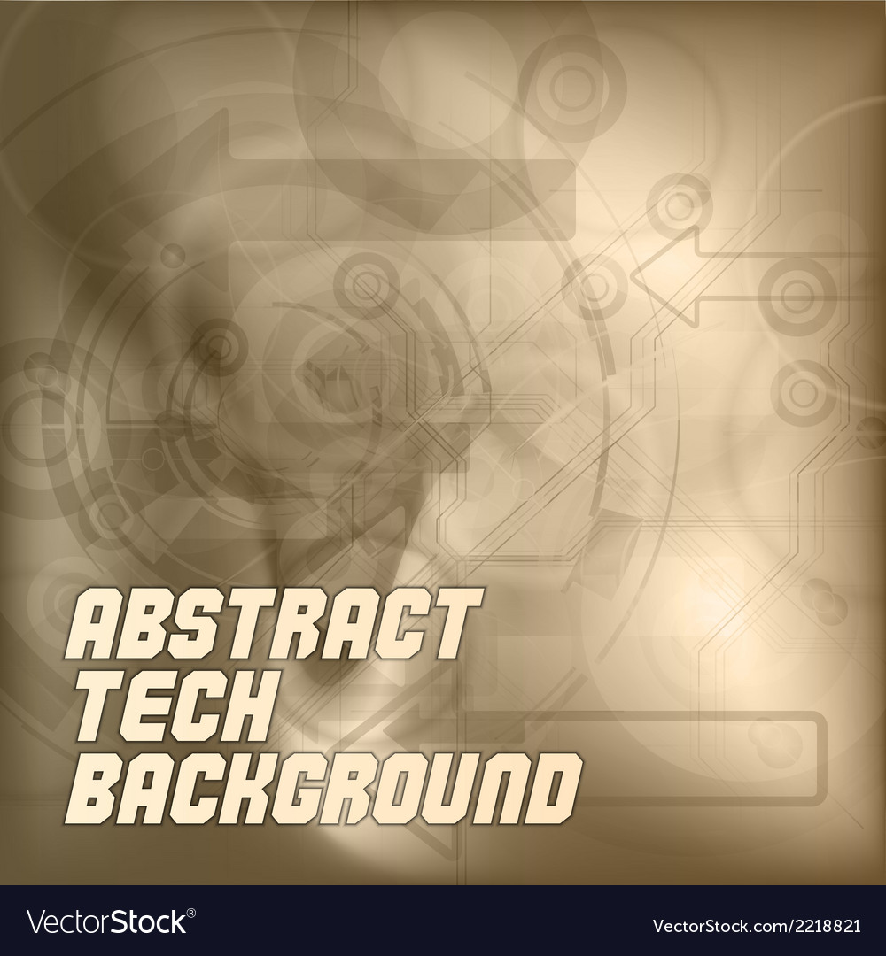 Brown tech background vector | Price: 1 Credit (USD $1)