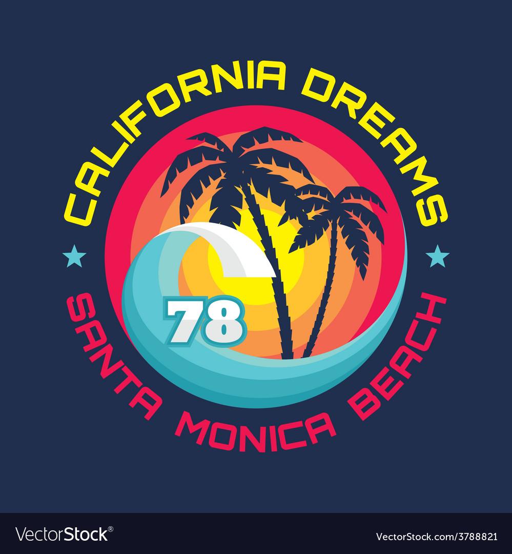 California - vintage badge vector | Price: 1 Credit (USD $1)