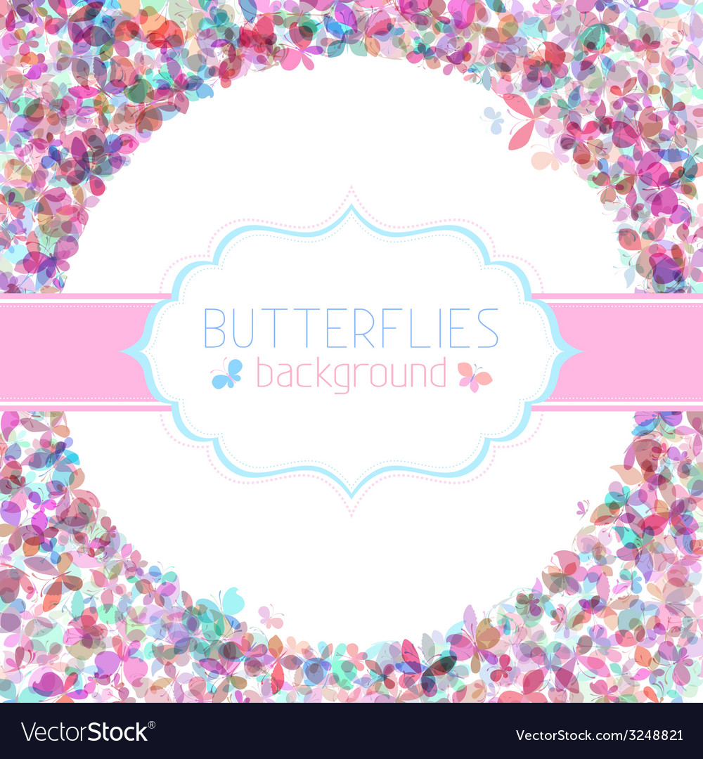 Colorful butterflies background vector | Price: 1 Credit (USD $1)