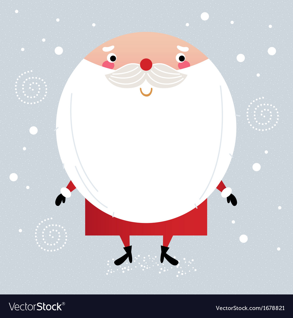 Cute santa in red costume on snowing background vector   Price: 1 Credit (USD $1)