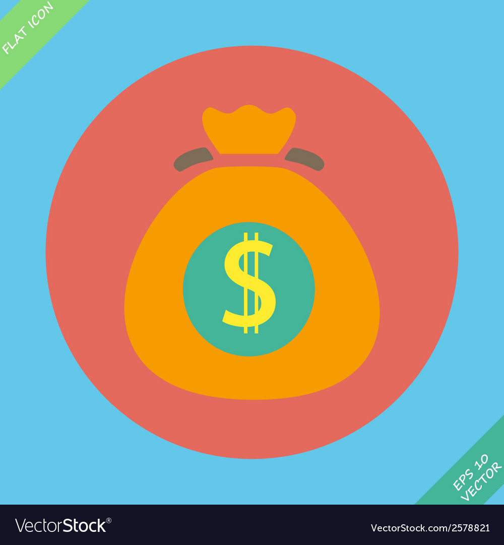 Money bag sign icon dollar usd symbol vector | Price: 1 Credit (USD $1)