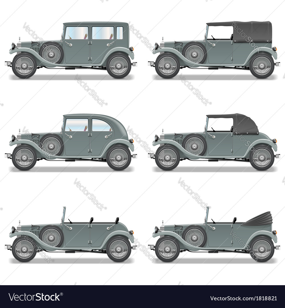 Retro cars vector | Price: 3 Credit (USD $3)